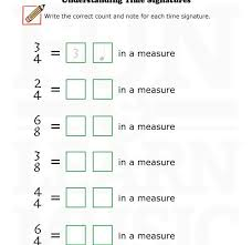 12 best time signature images on pinterest music worksheets