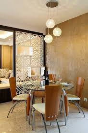drywall room divider cutout ideas dining room eclectic with