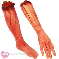 severed arm leg rubber latex body parts halloween costume party