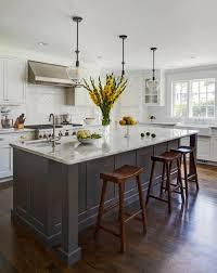 white kitchen cabinets grey island 75 beautiful blue kitchen pictures ideas april 2021 houzz