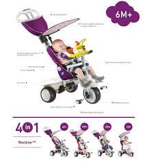 Smart Trike Recliner Tricicleta Smart Trike Recliner Stroller 4 In 1 Purple Nichiduta Ro