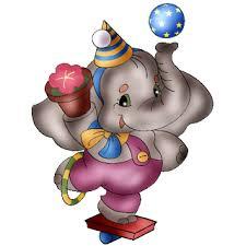 circus elephants cartoon animal images