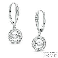 10k earrings unstoppable 0 50 ct t w diamond circle drop earrings in