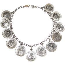 saints bracelet vintage sterling all saints charm bracelet from phalan on ruby