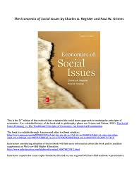 Mcgraw Hill Desk Copies Economics Of Social Issues Pdf Download Available