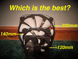 computer case fan sizes what is the best pc fan size 2015 youtube