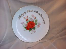 40th anniversary plate vtg 40th happy anniversary plate keepsake by royal 8 inch gift