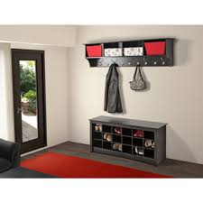 broadway black shoe storage cubbie bench cool living room eas