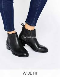 boots uk wide fit asos about wide fit leather chelsea boots black womens asos