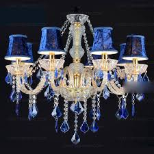 blue crystal chandelier light gorgeous fabric shade 8 light blue crystal chandelier
