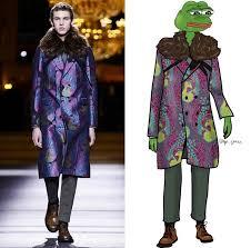 Fashion Meme - dressing sad frog meme pepe in the latest menswear dazed
