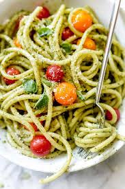recipes with pasta easy homemade pesto pasta recipe foodiecrush com