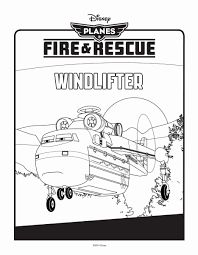 planes fire and rescue colouring pages windlifter