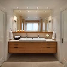 Modern Sconces Bathroom Big Mirror Closed White Wash Basin Arched Crane In