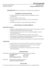 Example Of A Combination Resume by Resume Sample Inventory Control Supervisor
