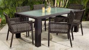 Wicker Patio Dining Table Glamorous Rattan Outdoor Dining Chairs Wicker Patio At
