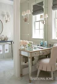 Skirted Vanity Chair Southern California Home With A Blue And White Palette