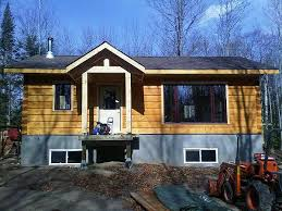 small cabin plans with basement true log homes pictou
