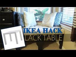 lack end table hack ikea hack lack table transformation diy youtube
