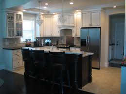 kitchen kitchen counter height ergonomics dark cabinets light
