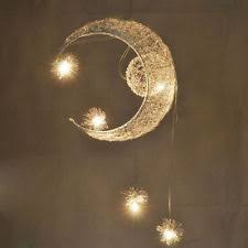Child Chandelier Moon Star Child Bedroom Lighting Pendant Lamp Chandelier Ceiling