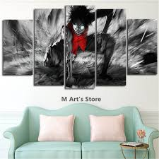Posters For Home Decor by Aliexpress Com Buy 5piece Canvas Art Catoon Poster One Piece