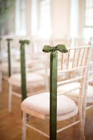 chair ribbons chic summer wedding in london green ribbon decorating and wedding