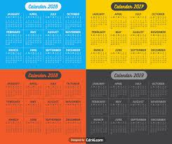 Calendar 2018 Ai Template 2016 2017 2018 2019 Calendar Vector Fully Editable Cdrai