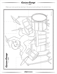 100 curious george color pages download hanging curious george