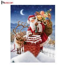 aliexpress com buy diy santa diamond painting cross stitch