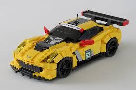 corvette c7 r lego moc 9368 chevrolet corvette c7 r lmgte pro edition model