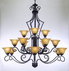 Chandeliers For Foyers Large Foyer Or Entryway Wrought Iron Chandelier H51