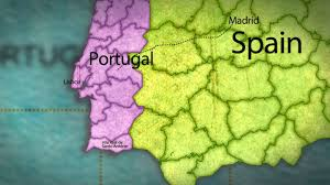 Portugal Spain Map by Map Spain Portugal Youtube