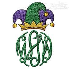 mardi gras embroidery designs mardi gras monogram embroidery frame