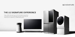 lg signature products great designs must be experienced lg usa