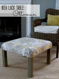 Side Table Ikea by Coffee Table Ikea Hack Ottoman Tutorial Infarrantly Creative How