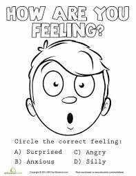 all worksheets emotions worksheets for kindergarten free