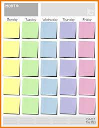 5 day calendar template eliolera com