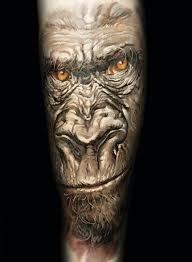 angry monkey tattoo by dimitry samohin tattoomagz