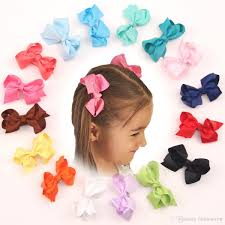 baby girl hair bows hair bows sell fashion grosgrain ribbon bow hair clip pin aligator