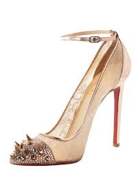 lyst christian louboutin picks co crystal studembellished lace