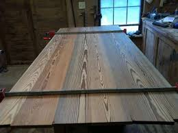 table top glue up heart pine farm table with breadboard in general woodworking