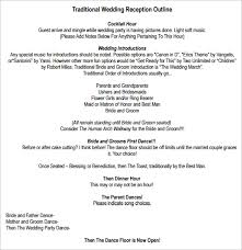 Wedding Reception Program Sample Dinner Program Template Itinerary Booklet Template Annual