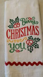 machine embroidery designs for kitchen towels 17 best christmas embroidered kitchen towel images on pinterest
