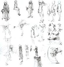 sketches 01 figures clothing by voleno on deviantart