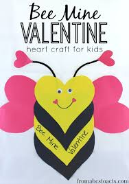 valentines day kids bee mine heart craft for kids from abcs to acts