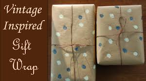 how to wrap a vintage inspired gift package youtube