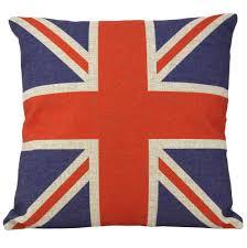 Blue Union Jack Cushion Amazon Com British Vintage Style Union Jack Flag Throw Pillow