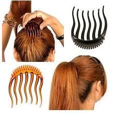 chignon tool famshin 1 pcs hair clip barrettes bouffant styles comb tool 8 x 6
