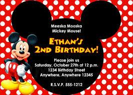 Birthday Card Invitation Templates Tips For Choosing Mickey Mouse Birthday Invitations Ideas